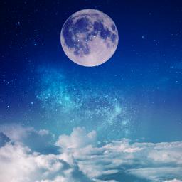 freetoedit remixit sky moon clouds galaxy