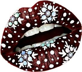 mouth lips teeth snowflakes art freetoedit
