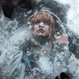 ice illusion surreal winter cold freetoedit