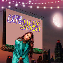 freetoedit lillysingh billboard nightsky moonlight ecalittlelate alittlelate