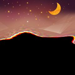 ftestickers sky stars moon crescent freetoedit