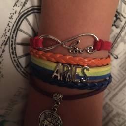 rainbow bracelet love aries