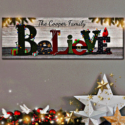 freetoedit thecooperfamily believe text sign