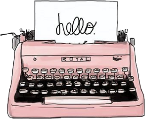 typewriter aesthetic tumblr art pink freetoedit sctypewriter