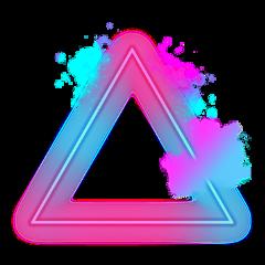 freetoedit scneons neons triangle neon ftestickers