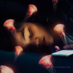 freetoedit sleeping dream fantasy ircredjellyfish
