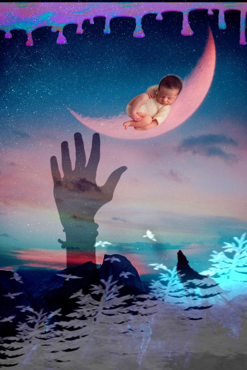 #freetoedit #doubleexposure #baby #sleeping #fantasy #curvetool #picsarteffects