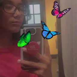 freetoedit butterflies mirrorselfie android glasses