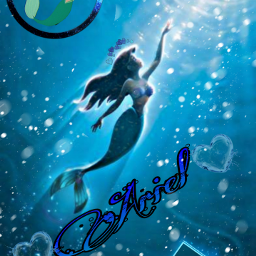 freetoedit ariel princess water blue