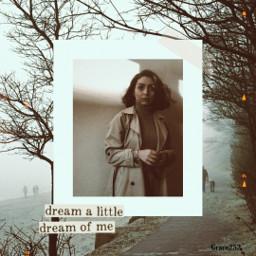 freetoedit picsartreplay woman fog trees