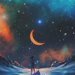 freetoedit artwork art stars galaxy scifi