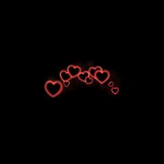 neon glowing neonlight red heart freetoedit