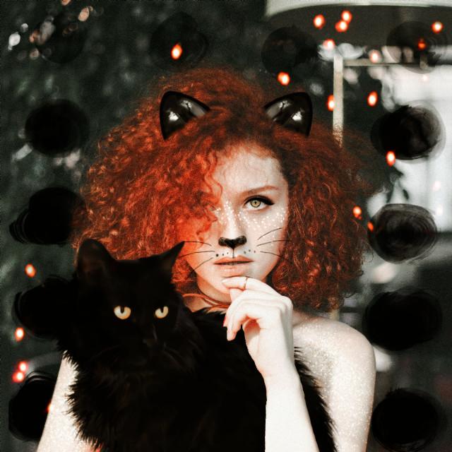 #myedit #cat #caturday #blackcat #catears #glitter #maskeffects #madewithpicsart #madebyme #creativity  #catlover @picsart