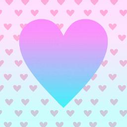 freetoedit pinkblue pink blue heart