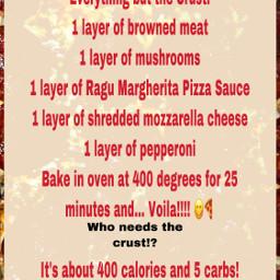 freetoedit recipe pizza nocrust yummy