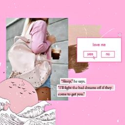 freetoedit pink collage retro art