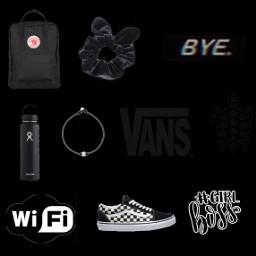 black vsco bag scrunchie bye freetoedit