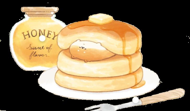 #yeastken #japanesefood #honey #pancakes #maplesyrup #butter #freetoedit #shiba