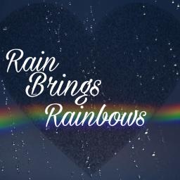 stickers rain heart rainbow freetoedit