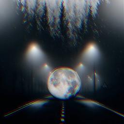 freetoedit lynnbrewer madewithpicsart moon streetlight
