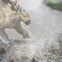 freetoedit dinosaur river myoriginalphoto madewithpicsart