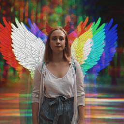 freetoedit wings halo glitch aesthetic