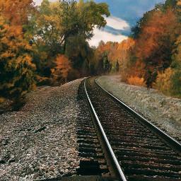 railroadtracks train autumn naturephotography colorful