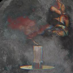 freetoedit remixed moon candle smoke