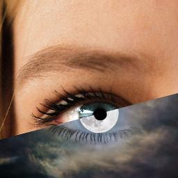 freetoedit surrealism eyeart moon picsart