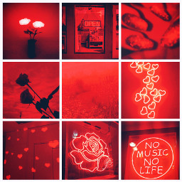 red aesthetic grid aestheticgrid