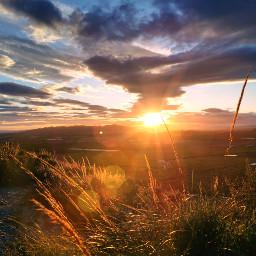 sunset beautifulnature sun sky clouds