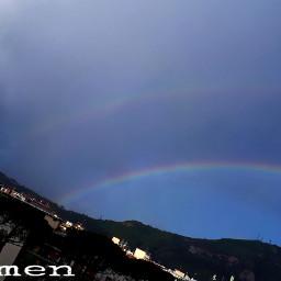 freetoedit myphoto arcobaleni pioggia rain pcgloomyweather