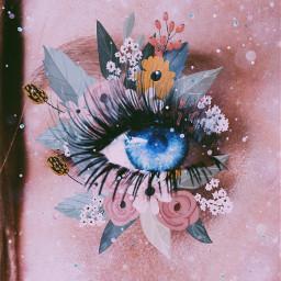freetoedit eyesgalaxy flowers sparkle
