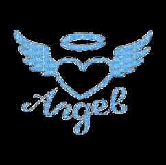 angel blue sparkles y2k freetoedit