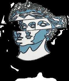 greek astrology asthetic statue blue freetoedit