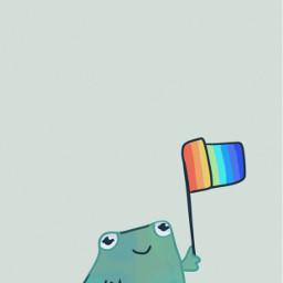 selfcare frogs pride gay myart