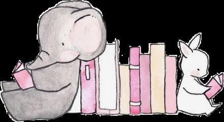 cute book animal animals story freetoedit