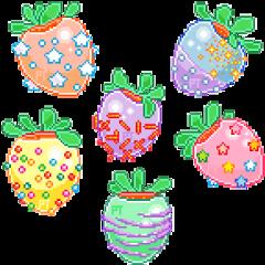 png pngs aesthetic strawberrystrawberries pixel freetoedit