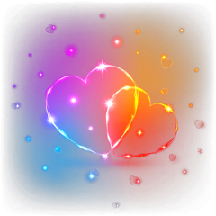 neon hearts neonhearts colored coloredhearts freetoedit