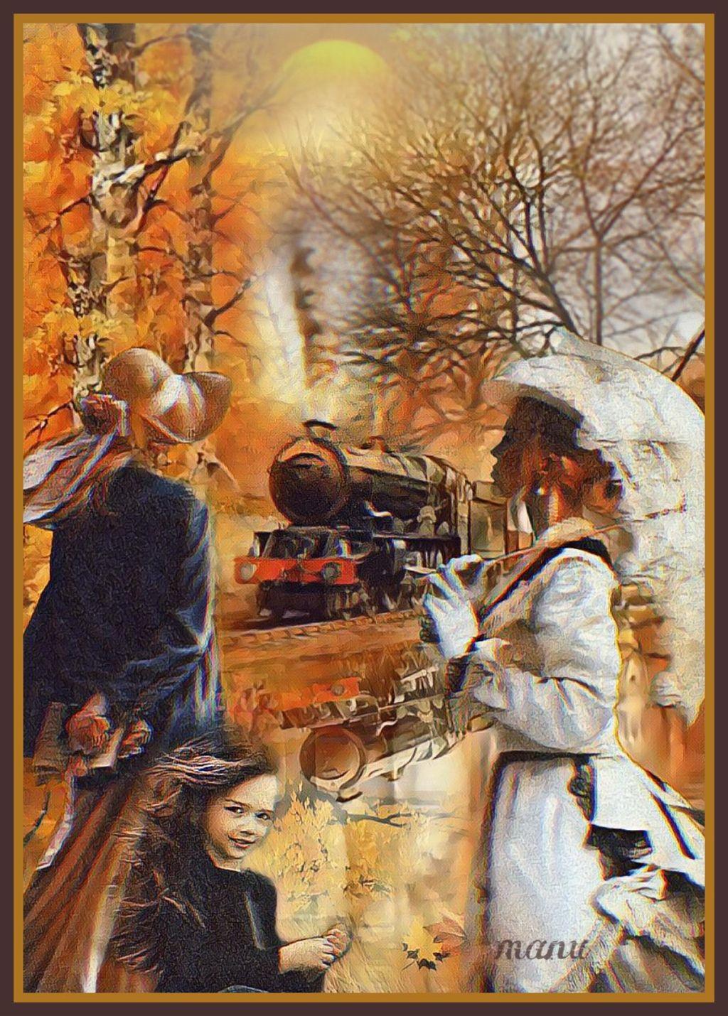 #freetoedit #myedit #doubleexposure #vintage #landscape #nature #train #woman #children #