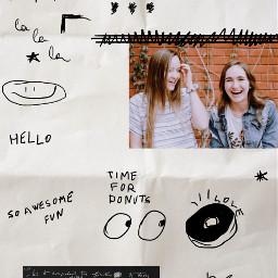freetoedit doodles paper scrapbook filmeffect