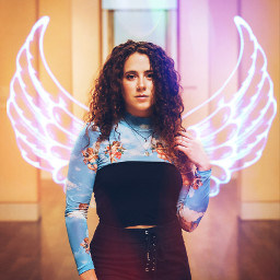 freetoedit angelic wings art woman
