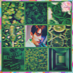 jinyoung green got7 freetoedit