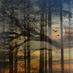 freetoedit myedit landscape fantasy doubleexposure