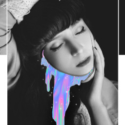 madewithpicsart coverart art neon potrait freetoedit