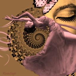 freetoedit girl ballerina dance sleep