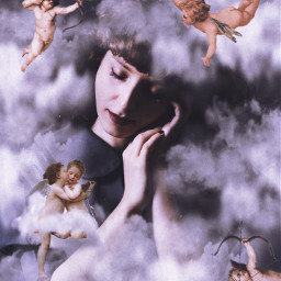 freetoedit clouds angel angels cupid