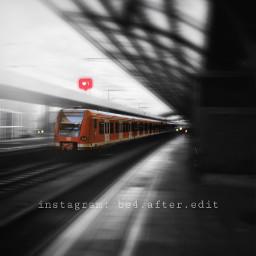 freetoedit train splashofcolor bnw blackandwhite