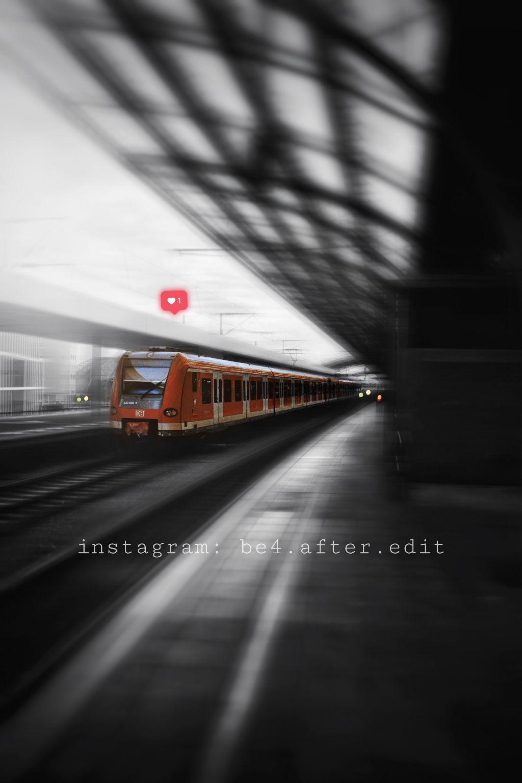 #freetoedit #train #splashofcolor #bnw_captures #blackandwhite #germany #bonn #cologne #photography #captured