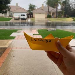 it rain boat horror clown